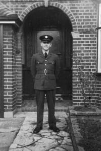 David Lang in RAF 1955